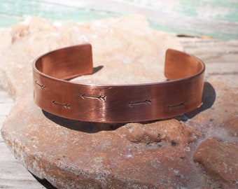 Aged Copper, Arrow Cuff, Copper Cuff, Travel Lovers Jewelry, Inspiration Jewelry, 7th Anniversary Gift
