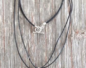 """Matrix-Pyrite-TurquoiseGemstone with Leather 26"""" Pendant Necklace"""