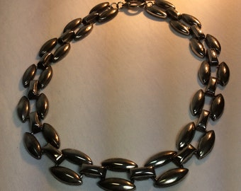 Vintage Industrial Silver Necklace