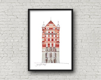 Albion House - 30 James Street - Titanic Building - White Star Line - Liverpool - Print