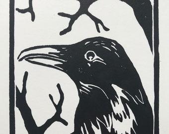 Raven // Linoprint