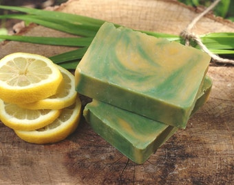 Lemongrass Soap - Lemongrass - Essential Oil Soap - All Natural Soaps - Vegan Skincare - Vegan Gift - Bath Soap - Artisan Soap - ONE BAR.