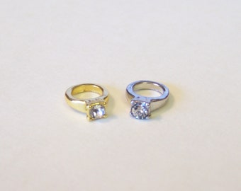 Wedding Ring Floating Charm........choose either gold or silver