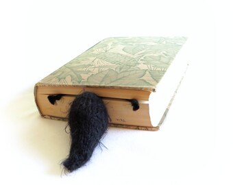 Roadkill Squirrel Bookmark - Black Squirrel - Vegan Roadkill - READY TO SHIP