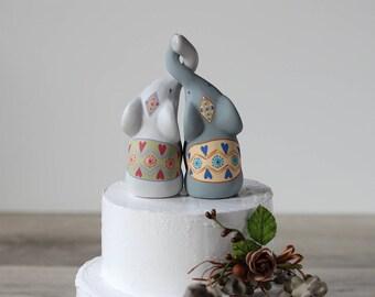 Elephant Cake Topper - Birthday Cake Topper - Wedding Cake Topper - Baby shower cake topper - Elephant birthday