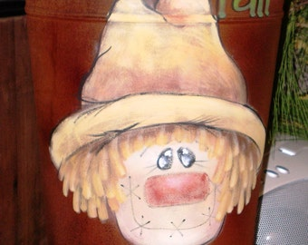 French Bucket Scarecrow Decorative Painting Pattern
