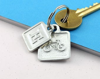 Pewter Bicycle Keyring For Cyclists and Bike lovers