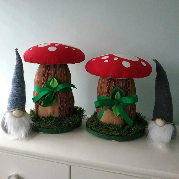 Mushroom Stools PAIR 2 Kids Room Troll House Fairy House