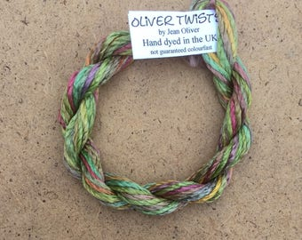 Silk Filament No.09 Apple, Embroidery Thread, Hand Dyed Embroidery Thread, Artisan Thread, Textile Art