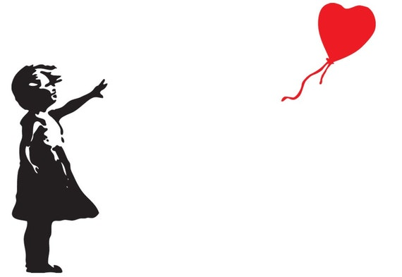 BANKSY Girl With The Red Balloon There Is Always Hope