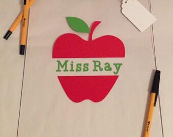 Teacher's Sliced Apple A4 Clipboard - CLEAR