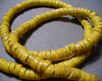 Coco Beads Rustic Yellow Heishi 6-7mm
