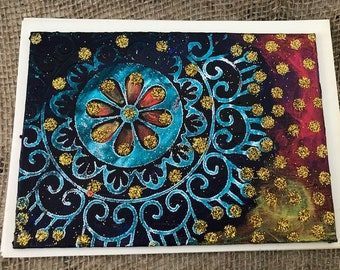 Rangoli Painting/Postcard on Canvas Board #9