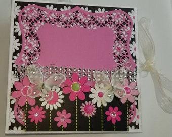 UPTOWN FLAIR GLITTER 6x6 paper scrapbook photo album