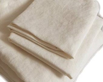 Linen allrounder-sheet towel cover 190 x 215 cm 100% linen Stonewashed, white