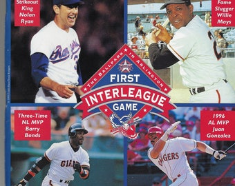 FIRST Major League Baseball INTERLEAGUE GAME Rangers vs. Giants June 12, 1997Special Commemorative Souvenir Program