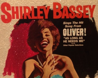 Glittered Shirley Bassey Sings The Hit Song From OLIVER Vinyl Record Album