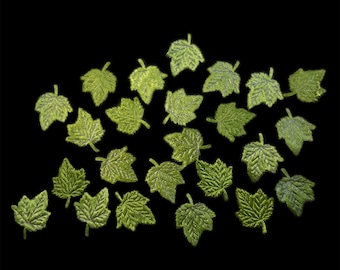 Green Maple Leaves appliqué