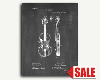 Patent Print - Violin Patent Wall Art Poster