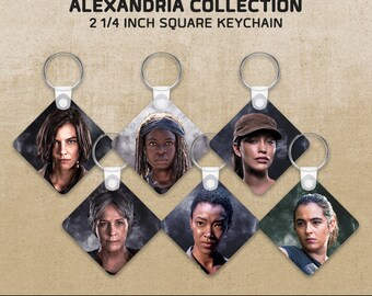 Women of Alexandria: The Walking Dead-inspired Key Chain
