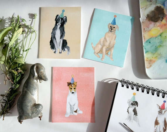 Party Dogs Set of 9 Folded Cards