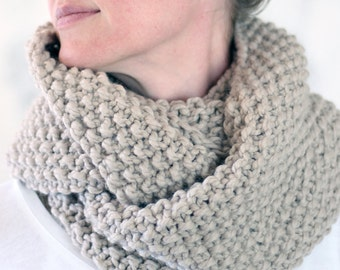 Women's Cowl Knitting Pattern - REVERENCE - a set of instructions to knit the cowl