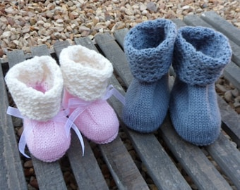 Knitting pattern- Baby.Booties- crib shoes-Machine knitting- JPG and PDF pattern-Standard gauge-Instant download