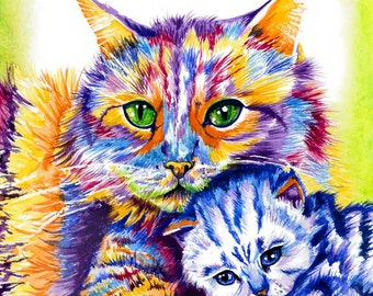 Cat's Protection 'Mum and Me' Signed Giclee Print