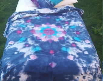 Tie Dye bedding, duvet covers, student bedding, college dorm bedding, sheets tie dye, student college gift, dorm xl sheets, twin duvet cover