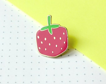 cube berry enamel pin