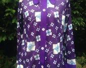 Vintage 1970s purple blou...