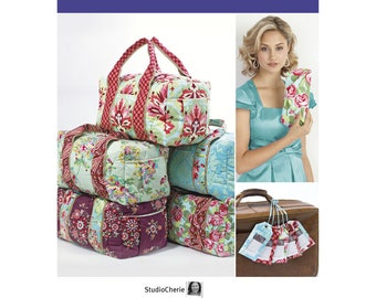 Simplicity Pattern 2274 Make a clever clutch, overnight bag and luggage tag