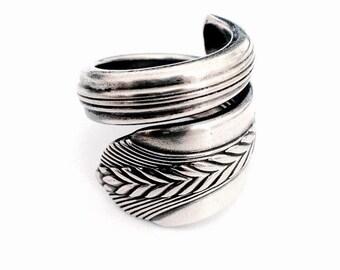 Vintage Silver Spoon Ring circa 1939 - Silverware Jewelry - Spoon Jewelry