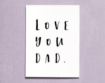 Fathers Day Card, Best Dad Card, Instant Download Printable, Fathers Day Gift, I Love You Dad, Thank You Dad, Greeting Card, Dads Day