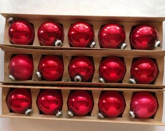 Vintage shiny brite Christmas tree ornaments