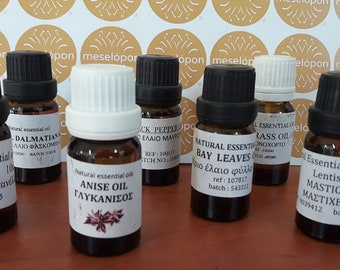 Greek Pure Natural Essential Oils Aromatherapy Without Admixtures