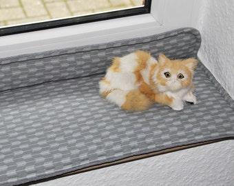 Cat pillows, window sill pillows, window sill pad, window seat cushion,