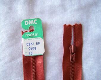 Zipper closure, metal, caramel brown (2404)