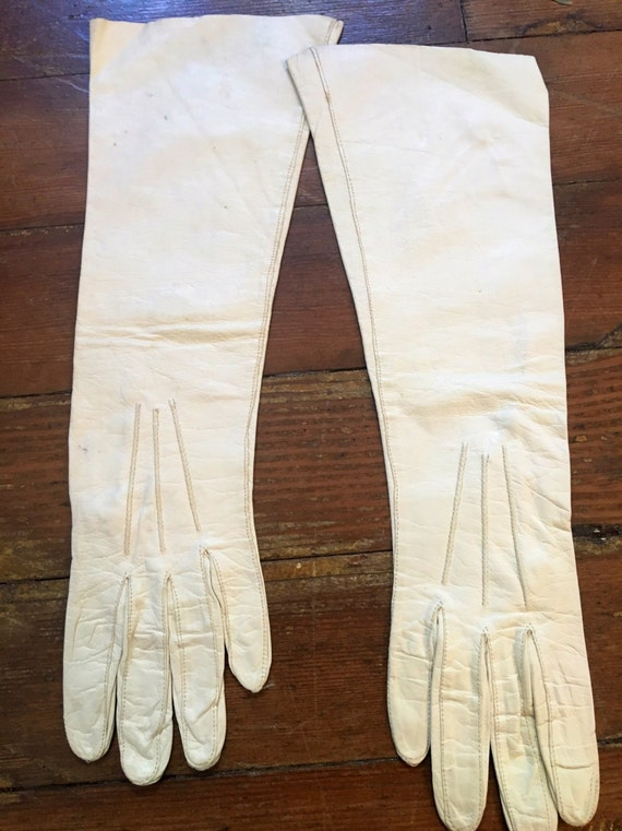 Vintage 1930s Washable Leather Gloves By Boyce Lazarus Size 6 1/2