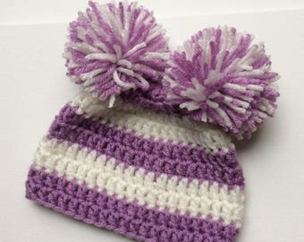 Sweet Baby Double Pom-Pom Hat