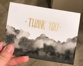 Watercolor Thank You Notes (pk of 6)