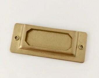 Brass Label Plate