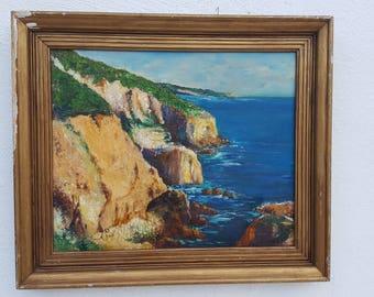 J. Berzer Vintage  Ocean Painting .