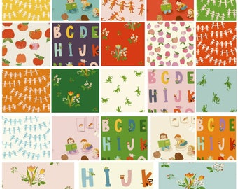 Heather Ross - Kinder - 1/2 (Half) Yard Bundle - (21PC ONLY)***