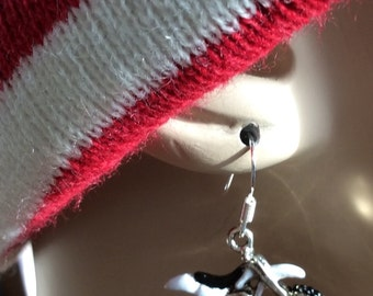 Dirt bike earrings. Racing sport earrings. Supercross earrings. Moto earrings. Enduro bike earrings. Dirt bike earrings. Motorcross earrings