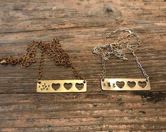Heart plaque necklace
