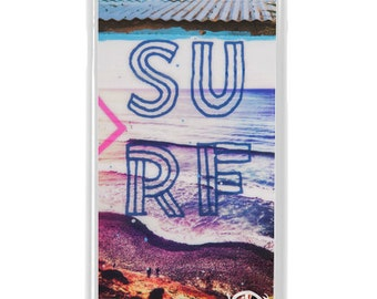 NEW iPhone 7/7+ Case, SURF SHACK, Indigo, Sea, Waves, Beach, Surf, Ocean Art, Ocean, Sunset, Art, Avail with Black or White case color