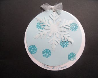 "wedding invitation ""winter magic"" ice blue and iridescent"