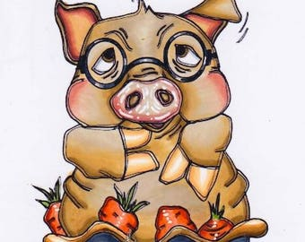 2068 Porkie Pie Digi Stamp