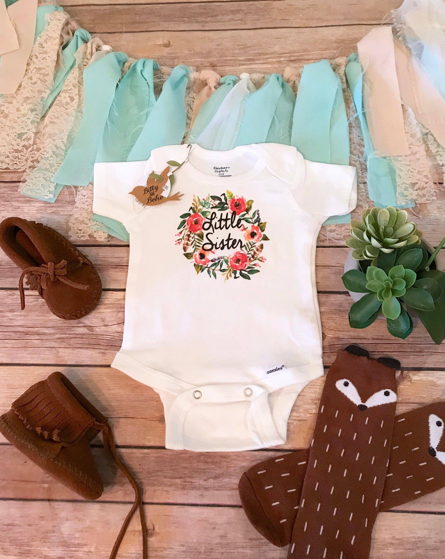 Little Sister esie Little Sister Shirt Cute Baby Clothes